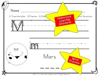 Child's Choice Writing Practice:  ABC SPACE- Advanced (download)