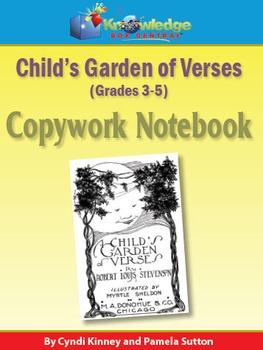 Child's Garden of Verses Copywork  Notebook 3-5th