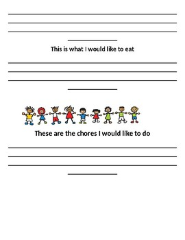 Child's Weekly Goal Setting