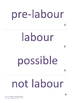 Childbirth Education - for labour line - stages of labour