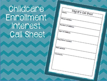 Childcare Call Information Sheet