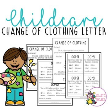 Childcare Change of Clothing Letter