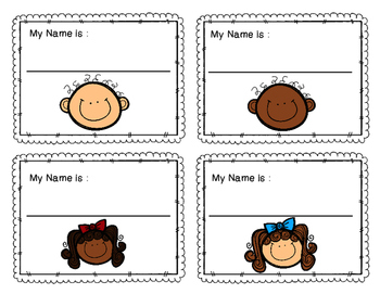 Childcare Cubby Labels