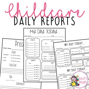 Childcare Daily Reports (Daycare)