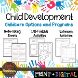 Childcare Options and Programs - Interactive Notebook Activities
