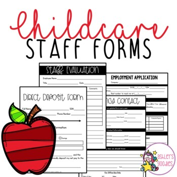 Childcare / Daycare Staff Forms (GROWING)