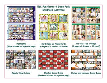 Childhood Activities 6 Board Game Bundle