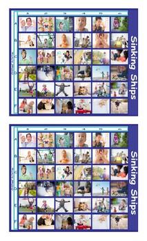 Childhood Activities Legal Size Photo Battleship Game