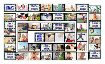 Childhood Activities Legal Size Photo Board Game