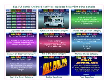 Childhood Activities Jeopardy PowerPoint Game
