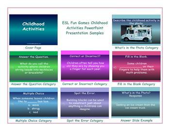 Childhood Activities PowerPoint Presentation