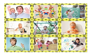 Childhood Activities Legal Size Photo Card Game
