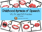 Childhood Apraxia of Speech VC, CV, and CVC Puzzles