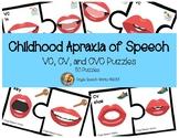 Childhood Apraxia of Speech VC, CV, and CVC Puzzles
