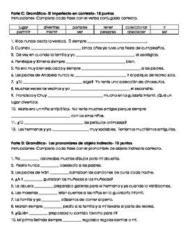 Childhood Assessment- La niñez (Grammar- Imperfect) (Realidades 2, Chapter 4A)