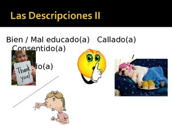Childhood Descriptive Adjectives