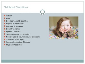 Childhood Disabilities & Disorders