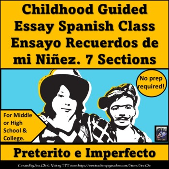 Childhood Illustrated Essay-For LOTE (Spanish)