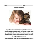 Childhood Pet Memory Common Core Writing Prompt