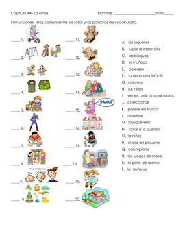 Childhood Vocabulary Quiz- Identifying pictures