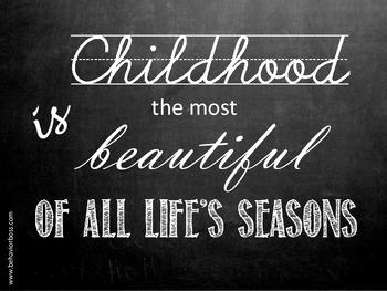Childhood is Beautiful Chalkboard Art Quotation