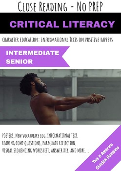 Childish Gambino This is America Close Reading Informational Text No Prep Pack