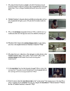 """Childish Gambino's """"This Is America"""" (2018) Music Video Analysis Worksheet"""