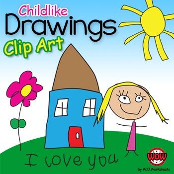 Childlike Drawings Clip Art