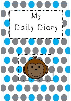 Childminding 'my daily diary' - monkey design.