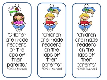"""""""Children Are Made Readers..."""" Bookmarks"""