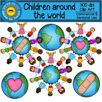 Children Around the World Clip Art