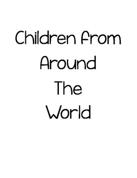 Children Around the World Coloring Pages