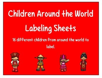 Children Around the World Labeling Sheets