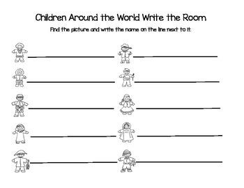 Children Around the World Write the Room