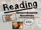 Children Author/Illustrator Reading Comprehension Questions; Printables