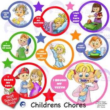 Children Chores Clipart, AMB-1253