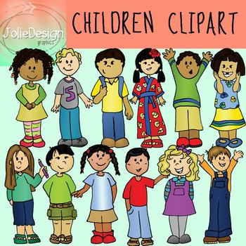 Children Clipart - Color and Line Art 24 pc set