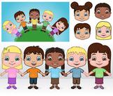 Children Clip Art - kids, boys and girls
