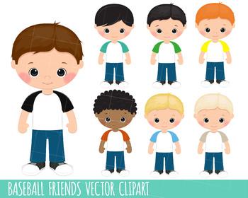 Children Clipart, Little Boy Clipart graphics, Baseball clipart,instant download