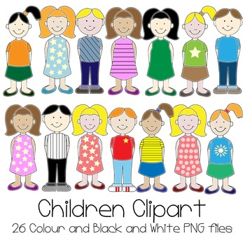Children Clipart Set