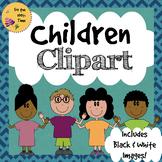 Children Clipart for TpT Sellers! - Including Black & White Images.