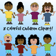 Children Clipart for TpT Sellers! - Including Black & White Images.