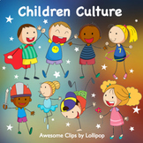 Children Culture Clipart (part 1) {Awesome Clips by Lollipop}