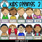 Kids Feelings Faces and Labels Clip Art Set 2 - Chirp Graphics