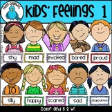 Kids Feelings Faces Clip Art Set 1 - Chirp Graphics