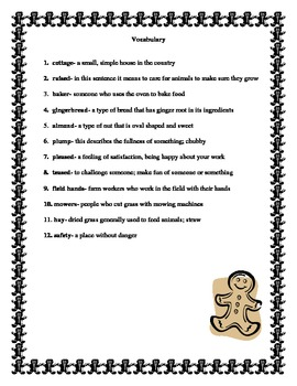 K-2 Story Illustration: The Gingerbread Man (CCSS aligned)
