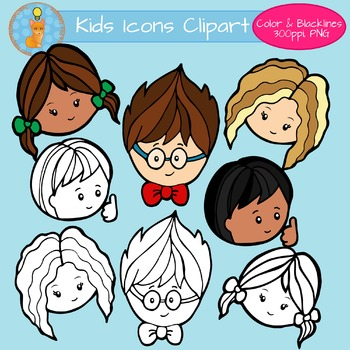 Children Icons for Back to School