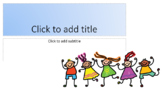 Children Playing PowerPoint Template