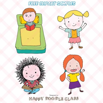 Children Clip Art for FREE. 8 pieces.