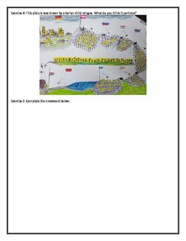 Children Refugees - Reading Comprehension Worksheet / Text